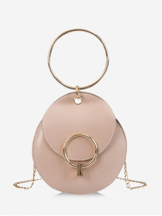 Round Chain Crossbody Bag - مشمش