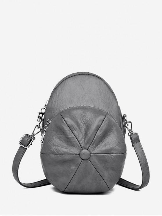 Cap Shape Crossbody Bag - الرمادي الداكن