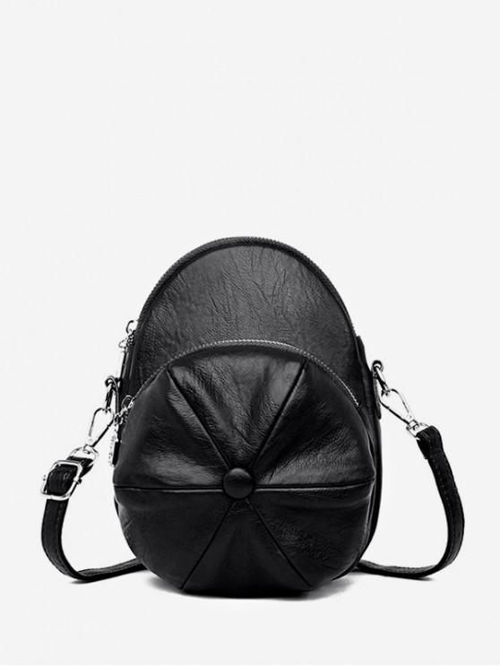 online Cap Shape Crossbody Bag - BLACK