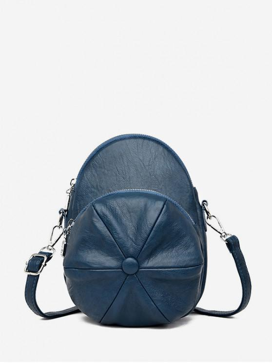unique Cap Shape Crossbody Bag - MARBLE BLUE