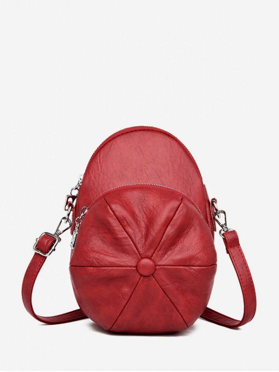 Cap Forma crossbody Bag - Castaniu roșu
