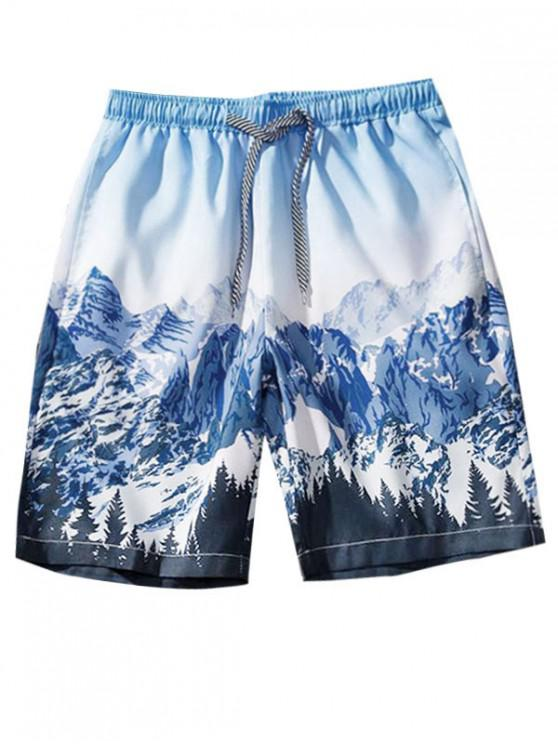 shops Snow Mountain Graphic Shorts - MULTI-C M