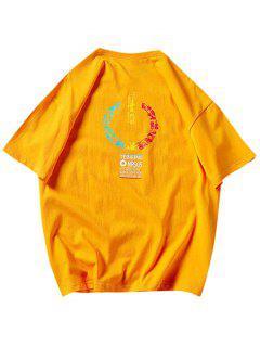 Music Instrument Graphic Basic T Shirt - Bee Yellow Xs