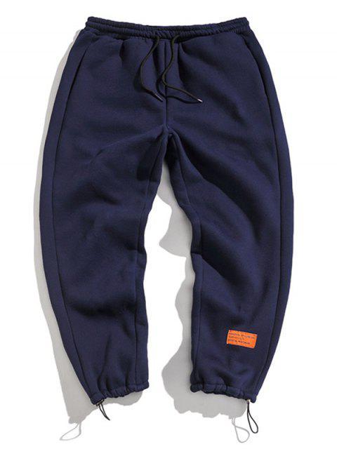 Pantalones Jogger con Estampado de Letras y Cordones - Cadetblue 2XL Mobile