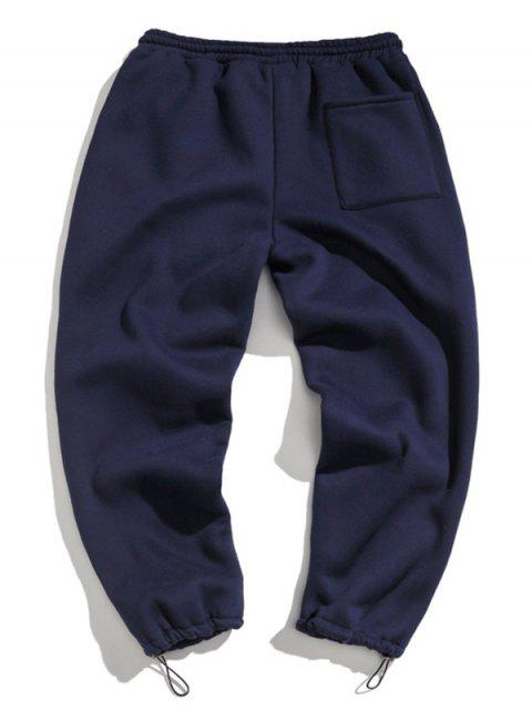 fancy Letter Pattern Drawstring Decorated Jogger Pants - CADETBLUE 3XL Mobile