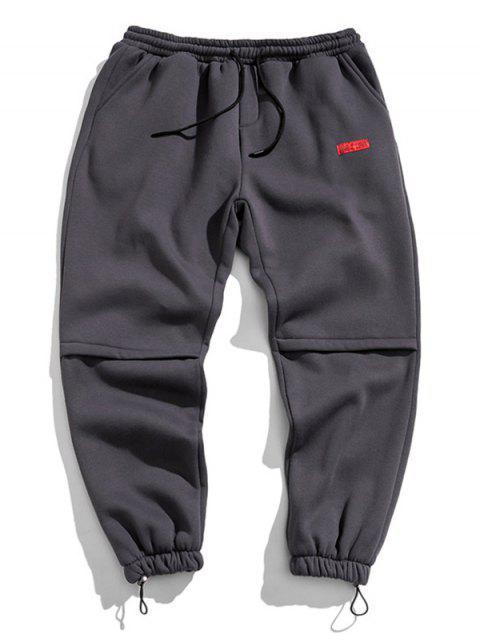 Jogger Pantalones con Diseño de Letras - Gris Oscuro XL Mobile