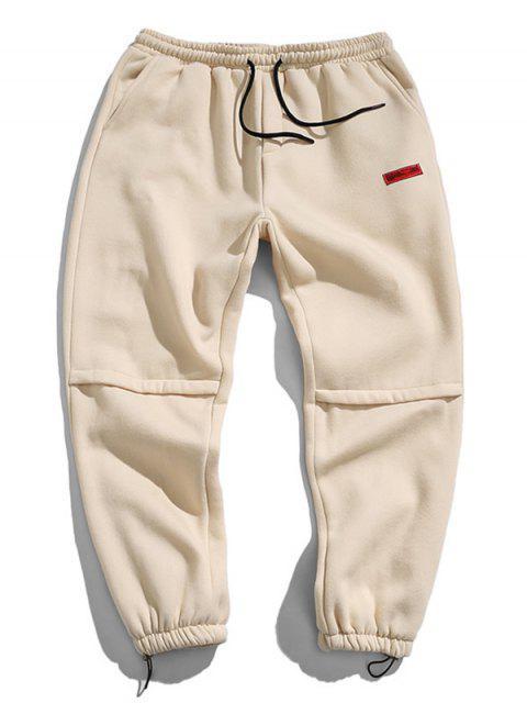 Jogger Pantalones con Diseño de Letras - Blanco Almendra L Mobile