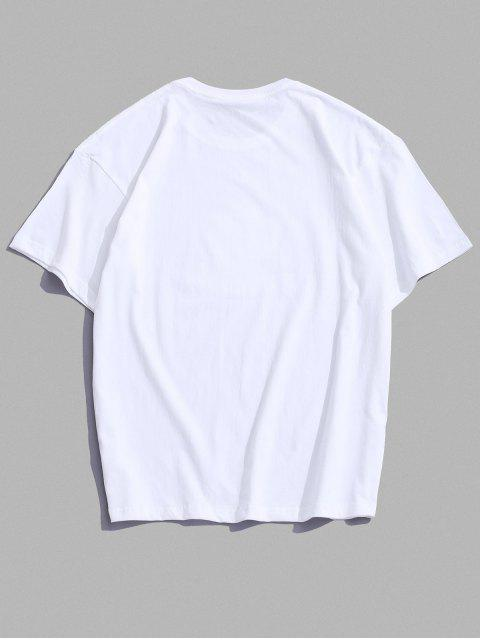 Maglietta a Maniche Corte con Stampa a Mouse Dei Cartoni Animati - Bianca 2XL Mobile