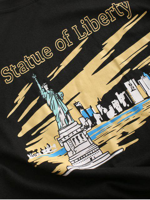 women Statue Of Liberty Graphic Tee - BLACK M Mobile