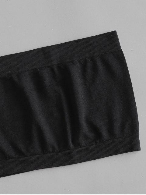 ladies Plain Bandeau Top And Dalmatian Dot Skirt Set - WHITE S Mobile
