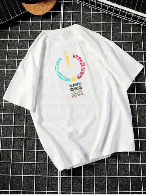 online Music Instrument Graphic Basic T Shirt - WHITE XS Mobile
