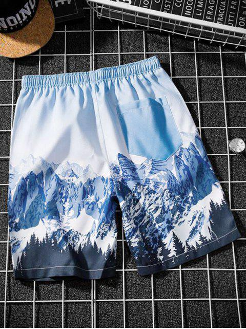 outfits Snow Mountain Graphic Shorts - MULTI-C XS Mobile