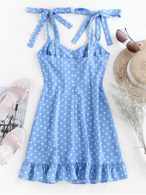 ZAFUL Mini Vestido con Volantes y Lunares - Azul claro S Mobile