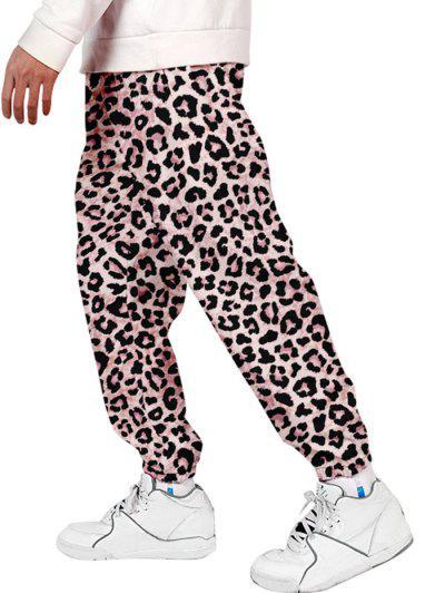 Pantalones Jogger Con Estampado De Leopardo - Leopardo 4xl