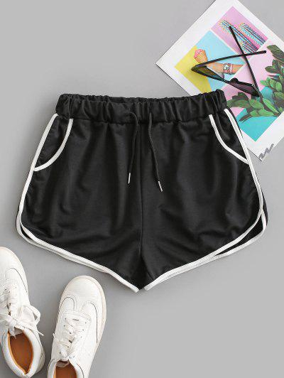 Drawstring Running Shorts - Black S