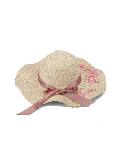 Bowknot Letter Straw Hat
