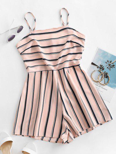 Striped Cami Romper - Rose L