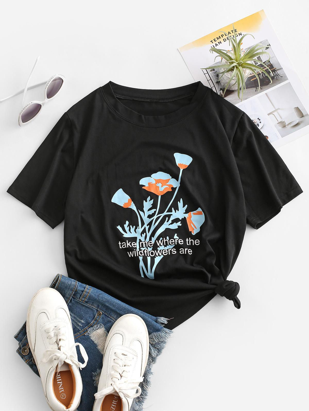 Floral Take Me Graphic Tee