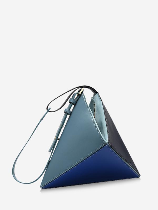 Colorblock Geo Leather Handbag