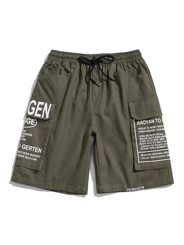 Zaful Letter Pattern Shorts
