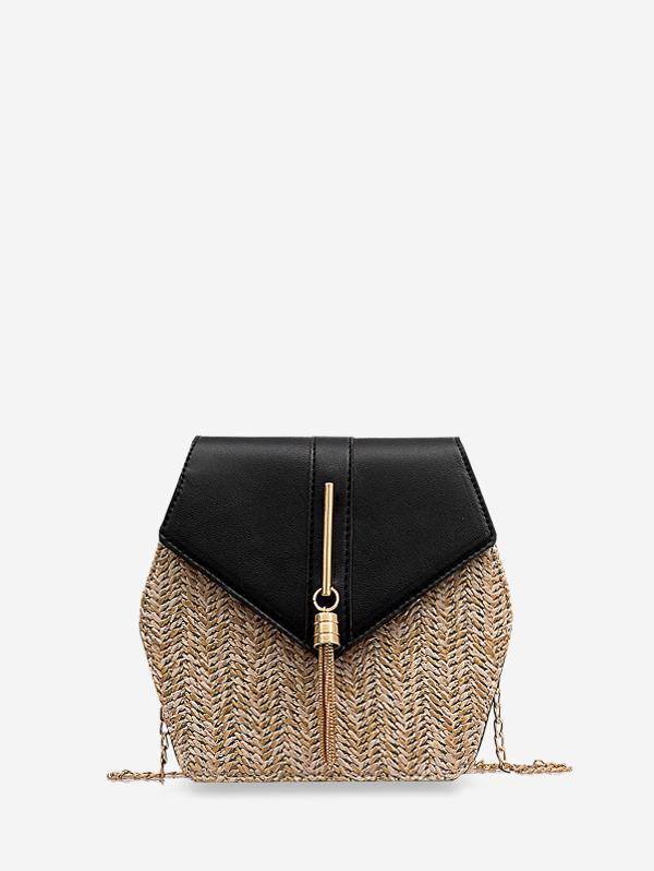 Geometric Tassel Chain Crossbody Bag