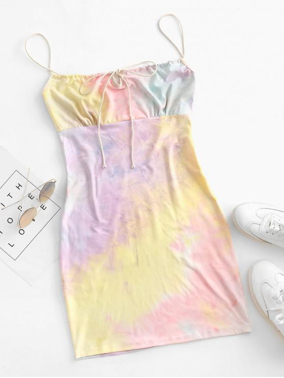 unique Tie Dye Bodycon Dress - MULTI S