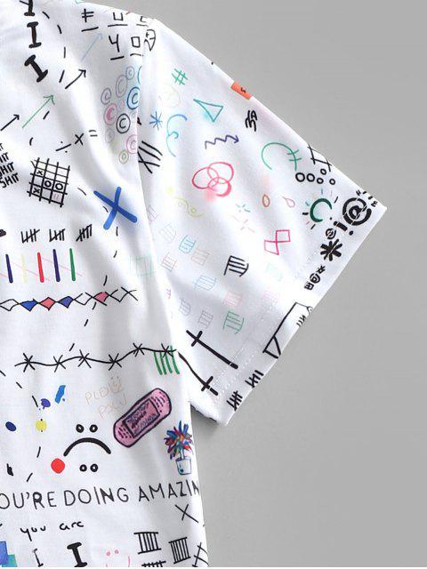 Cereja de Impressão de Graffiti Camiseta - Branco S Mobile