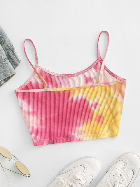 Top di Tie-Dye a Costine - Multi Colori-A XL Mobile