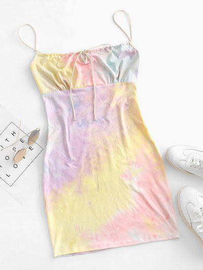 Tie Dye Bodycon Dress - Multi M