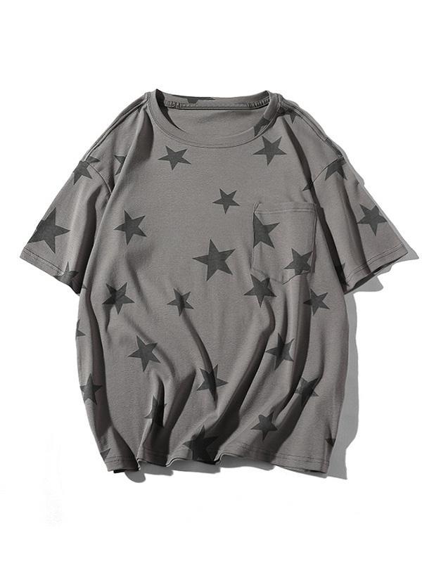 Star Print Casual Short Sleeves T-shirt thumbnail