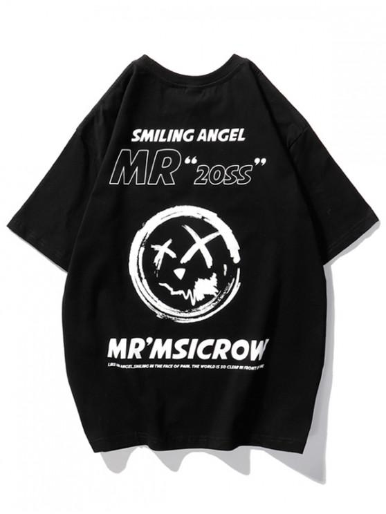 shops Smiling Angel Graphic Short Sleeve T-shirt - BLACK M