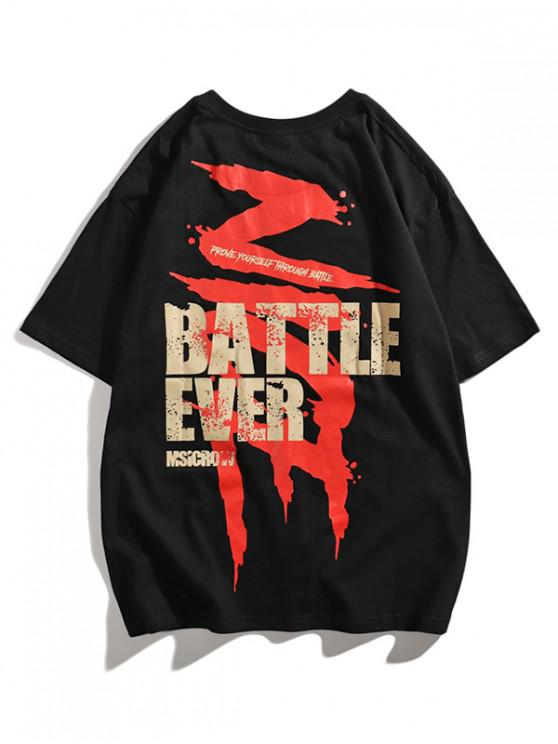 Battle Ever Paint Graphic Basic T-shirt - أسود M