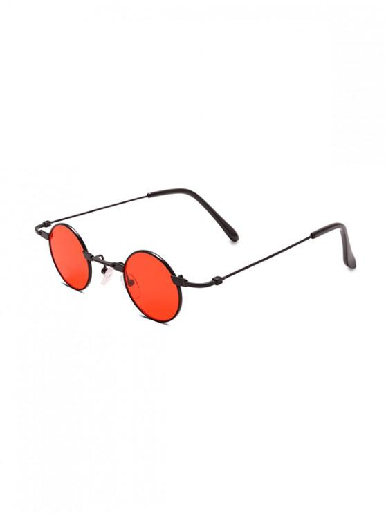 online Small Metal Round Sunglasses - RED