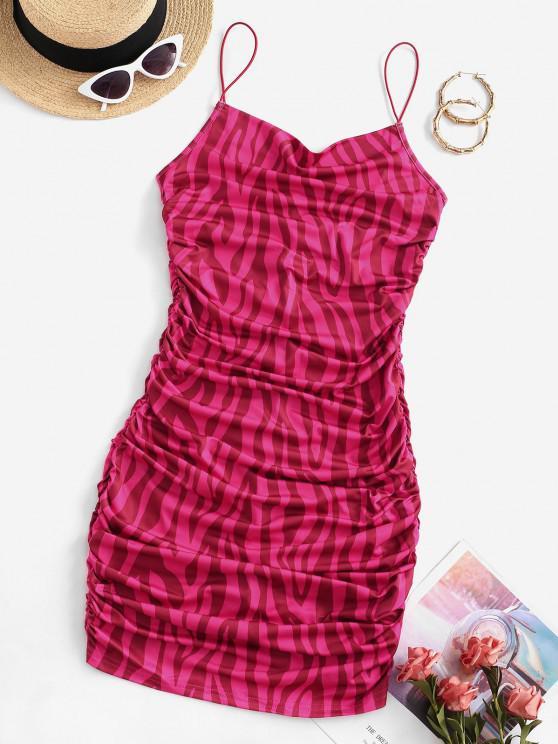 Vestido Alargado de Teia de Acne em Relevo - Rosa vermelha M