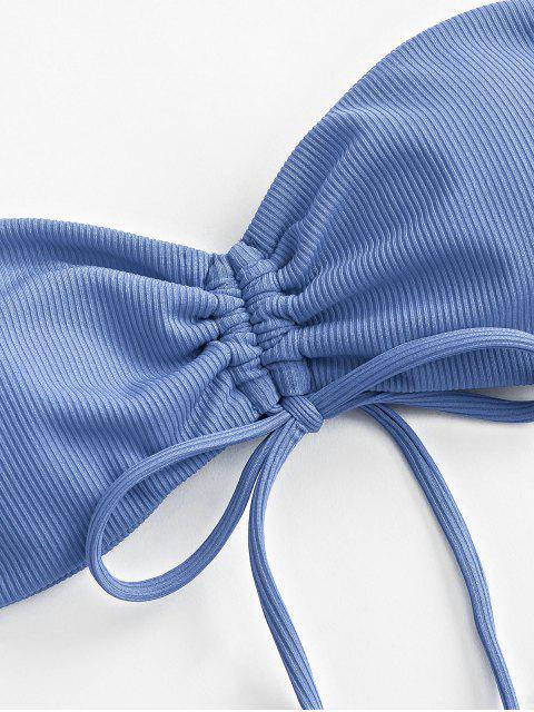Bikini a Fascia a Costine con Nodo di ZAFUL - Blu Cielo  L Mobile
