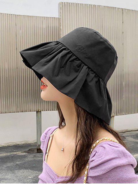 Chapeau de Pêcheurde SoleilProtection Solaire à Volants - Noir  Mobile
