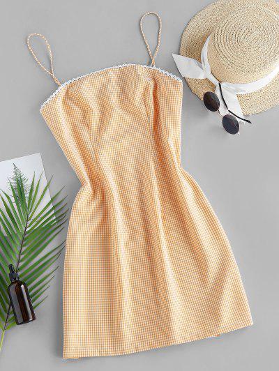 ZAFUL Checked Mini Cami Dress - Saffron M