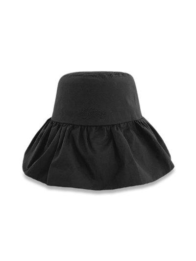 Sun Protection Flouncing Fisherman Hat - Black