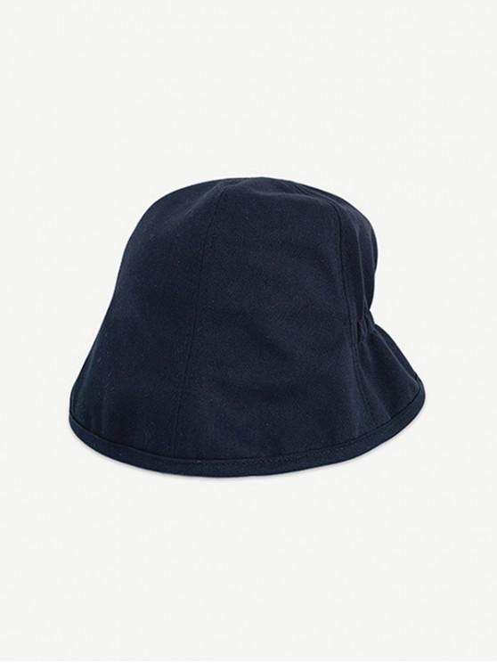 online Solid Elastic Outdoor Bucket Hat - BLACK