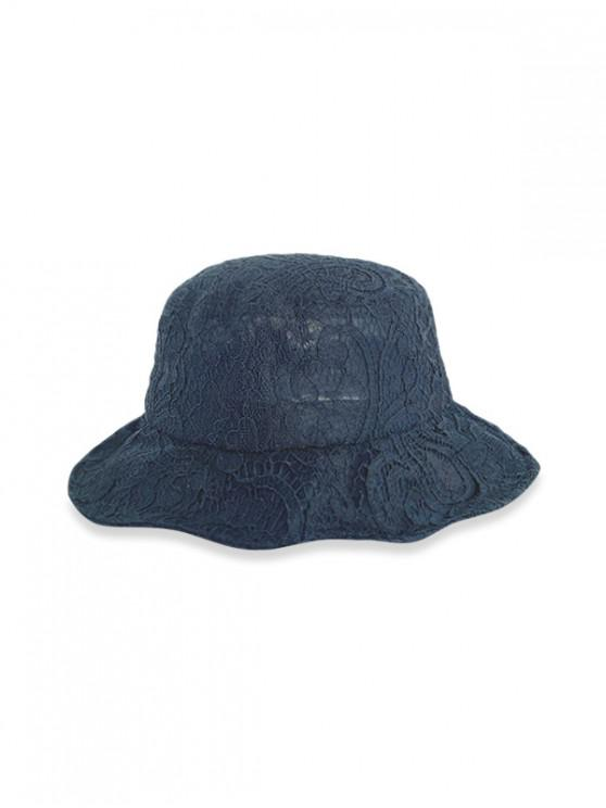 Lace Breathable Bucket Hat - أسود