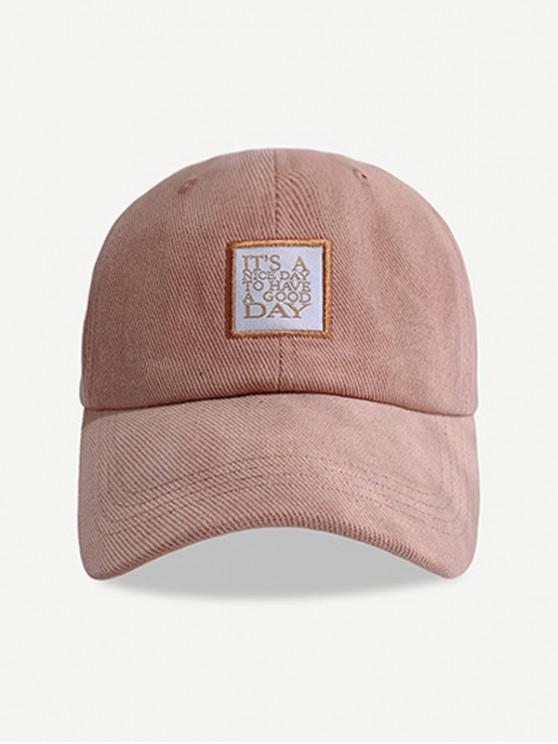 shop Embroidered Pattern Letters Baseball Cap - ROSE