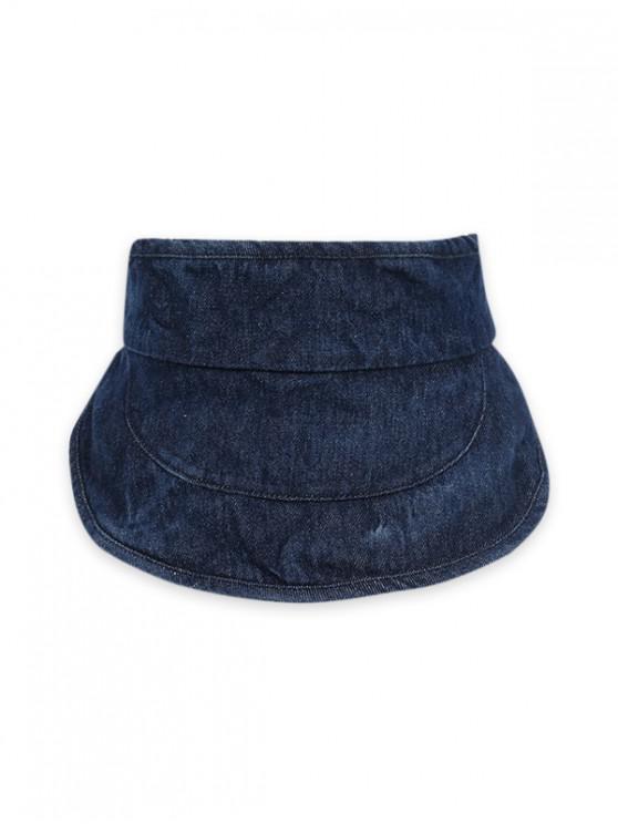 Denim Visier Hut mit Breiter Krempe - Kadettenblau