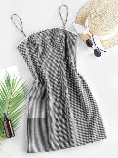 ZAFUL Checked Mini Cami Dress - Black M