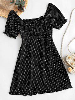 ZAFUL Mini Vestido De Lunares Con Volantes - Negro M