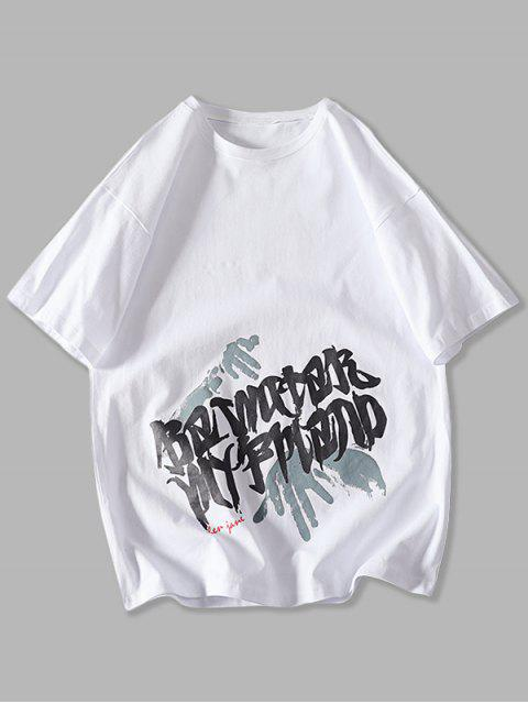 T-Shirt con Grafica di Palma - Bianca XS Mobile