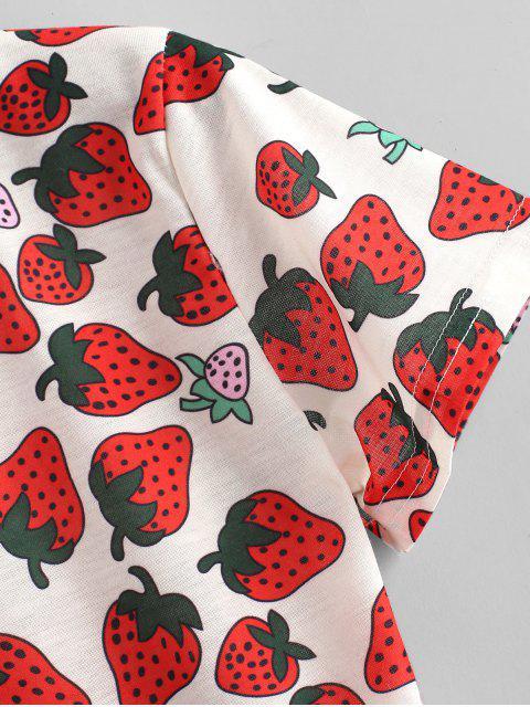T-Shirt Corta con Stampa Fragola - Multi Colori-A Taglia unica Mobile