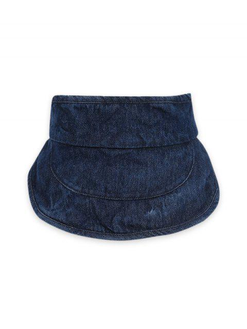 Cappello con Visiera Larga in Denim - Cadetblue  Mobile