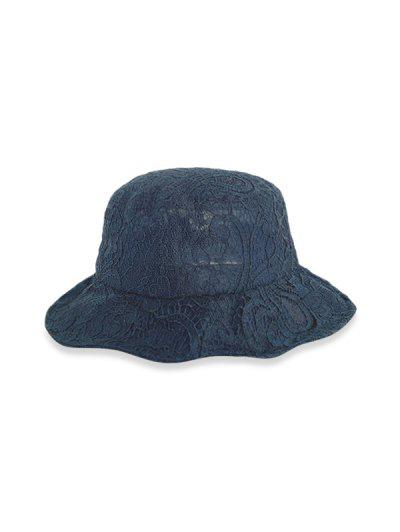 Lace Breathable Bucket Hat - Black