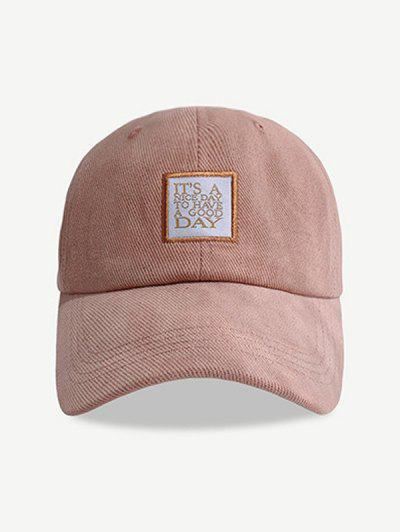 Embroidered Pattern Letters Baseball Cap - Rose