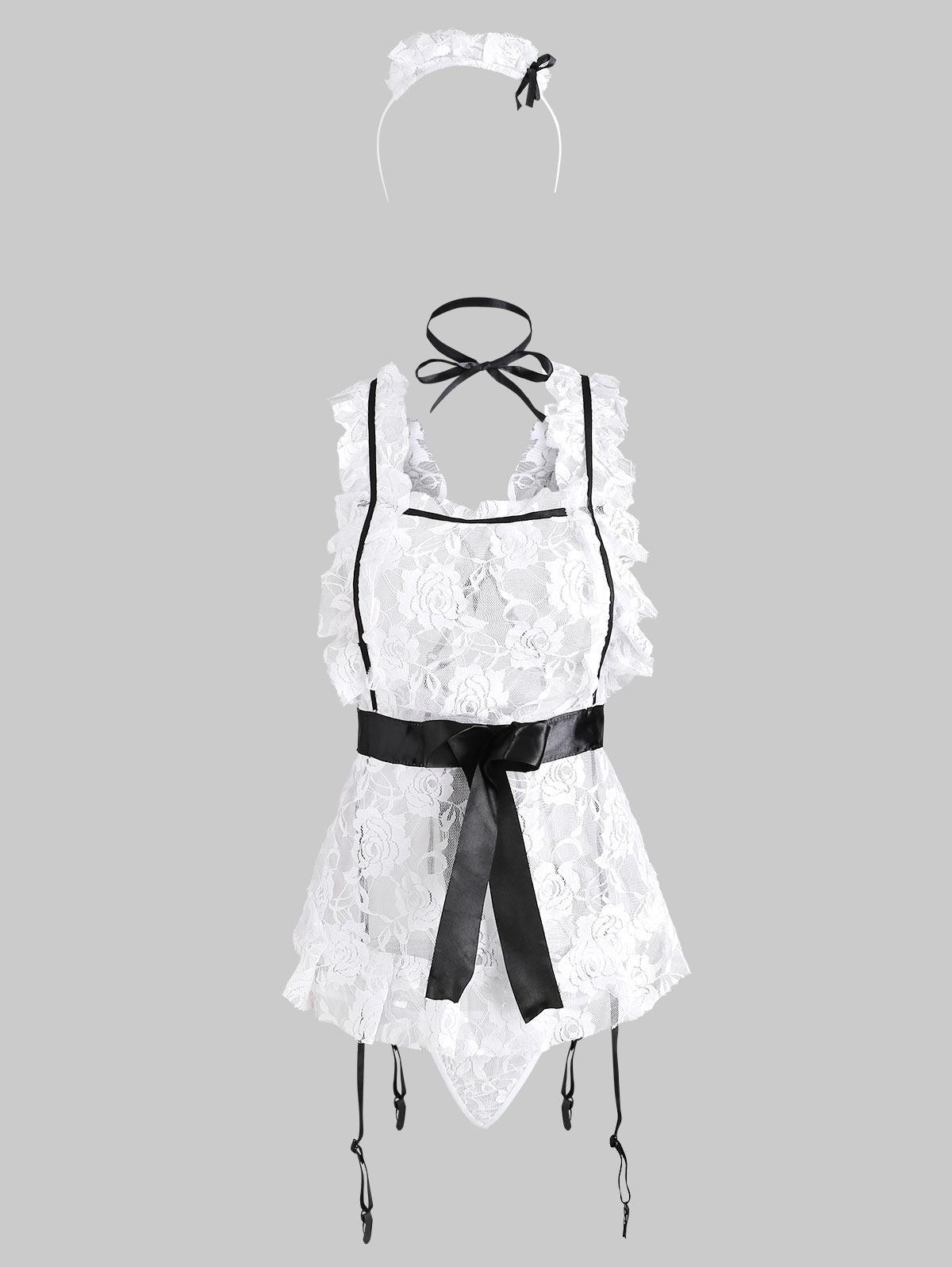 Garter Slip Headband Lace Maid Costume thumbnail